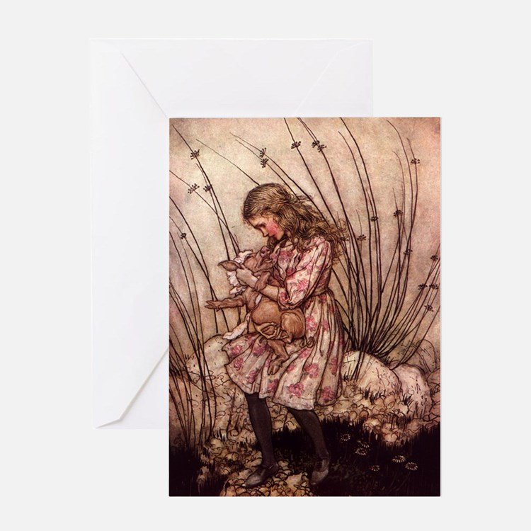 Rackham's Alice with Pig Greeting Cards (Package o