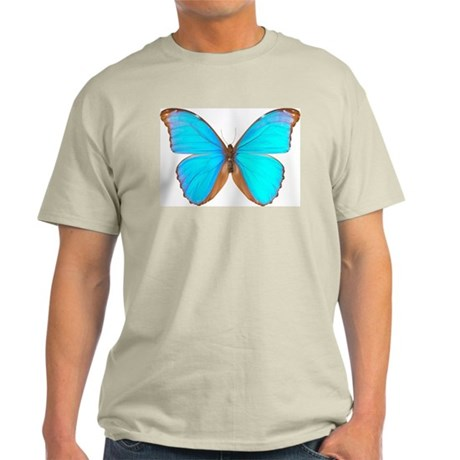 Turquoise Butterfly Ash Grey T-Shirt
