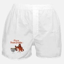 Distressed Happy Thanksukkah 2 Boxer Shorts