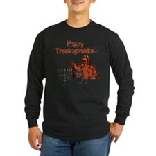Distressed Happy Thanksukkah 2 Long Sleeve T-Shirt