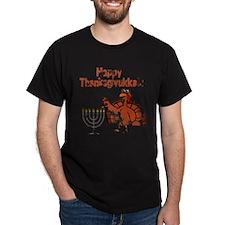 Distressed Happy Thanksukkah 2 T-Shirt