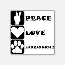 Peace Love Labradoodle Sticker