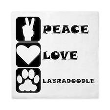 Peace Love Labradoodle Queen Duvet