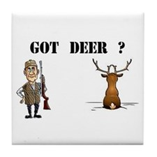 GOT DEER? Tile Coaster