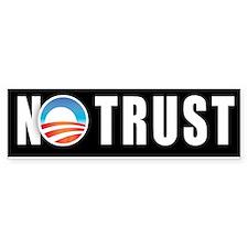 Obama No Trust Bumper Bumper Sticker