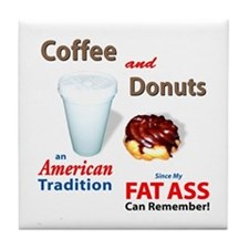 Coffee & Donuts Tile Coaster