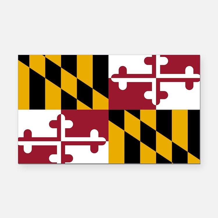 2000px-Flag_of_Maryland_svg Rectangle Car Magnet