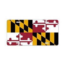 2000px-Flag_of_Maryland_svg Aluminum License Plate