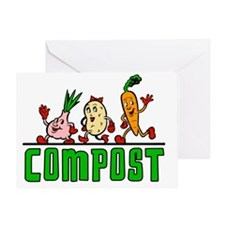 VegetarianCompost1 Greeting Card
