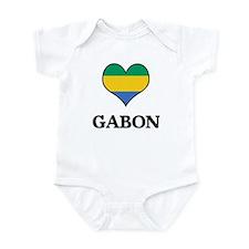 Gabon heart Infant Bodysuit
