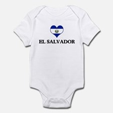El Salvador heart Infant Bodysuit