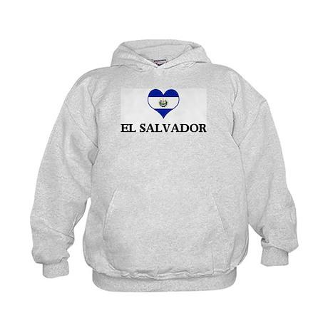El Salvador heart Kids Hoodie