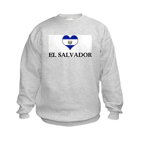El Salvador heart Kids Sweatshirt