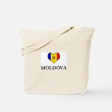 Moldova heart Tote Bag