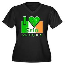 26+6=1 Women's Plus Size Dark V-Neck T-Shirt