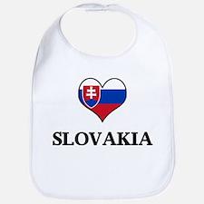 Slovakia heart Bib