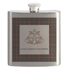 Claddagh 2 tile No name Flask