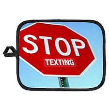 stop_texting_shirt Potholder