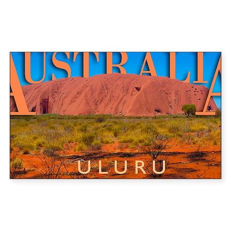calander_0051_australia uluru1 Sticker (Rectangle)
