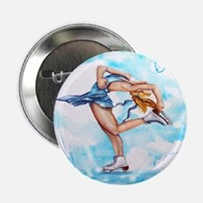 Blue Dream Ice Skater Button