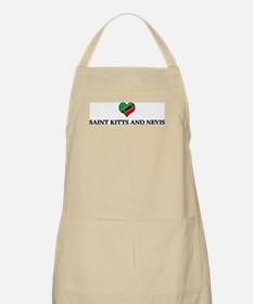 Saint Kitts And Nevis heart BBQ Apron