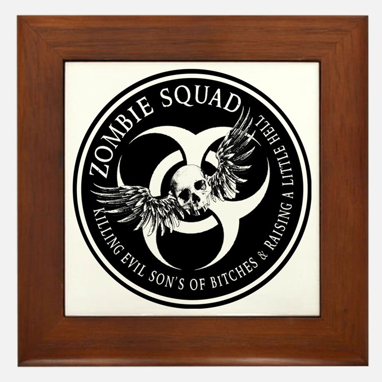 Zombie Squad Ring Patch Revised Framed Tile
