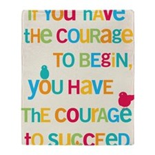 Courage_14x22_HI Throw Blanket