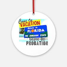 VacPro_Florida Round Ornament