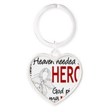 D Heaven Needed a Hero Wife Lung Ca Heart Keychain