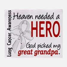 D Heaven Needed a Hero Great Grandpa Throw Blanket