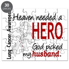 D Heaven Needed a Hero Husband Lung Cancer Puzzle