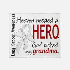 D Heaven Needed a Hero Grandma Lung  Throw Blanket