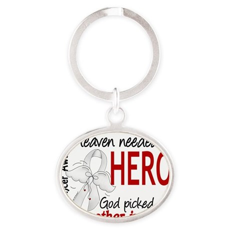 D Heaven Needed a Hero Brother-In-La Oval Keychain