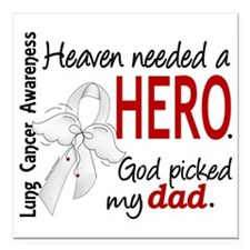 """D Heaven Needed a Hero D Square Car Magnet 3"""" x 3"""""""
