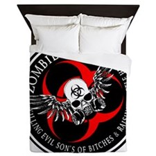 Zombie Squad 3 Ring Patch Revised Queen Duvet