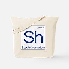 Sh Shirt-Blue-back-no godless Tote Bag