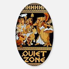 11x17_Quiet Zone print Sticker (Oval)