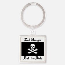 Eat the Rich Square Keychain