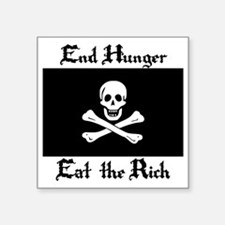 "Eat the Rich Square Sticker 3"" x 3"""