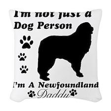 newfondland-daddy Woven Throw Pillow