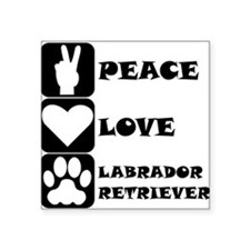 Peace Love Labrador Retriever Sticker