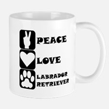 Peace Love Labrador Retriever Mugs