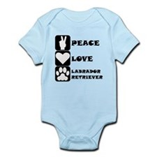 Peace Love Labrador Retriever Body Suit