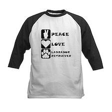 Peace Love Labrador Retriever Baseball Jersey