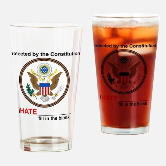 iHATE Drinking Glass