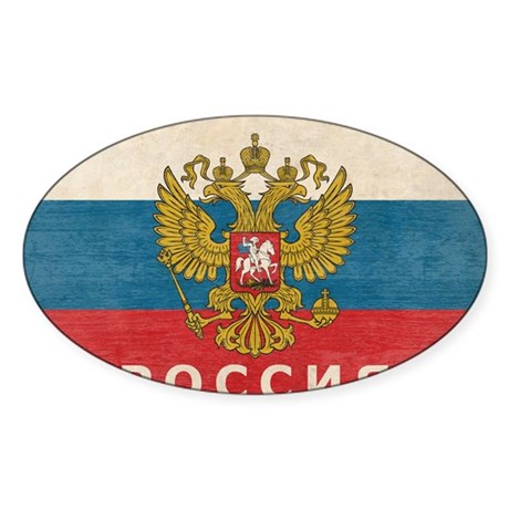 russia13 Sticker (Oval)