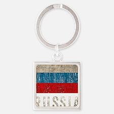 russia14Bk Square Keychain