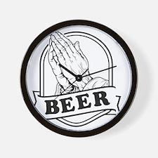 pray-beer-b Wall Clock