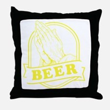 pray-beer-Y Throw Pillow