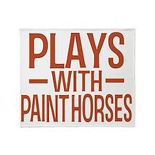 playsamericanpainthorses Throw Blanket